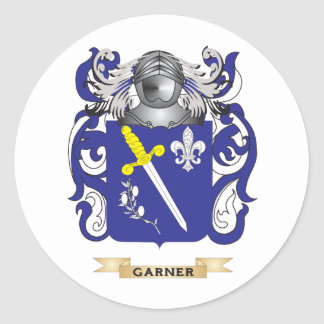 Escudo de armas del Garner (escudo de la familia) Pegatina Redonda