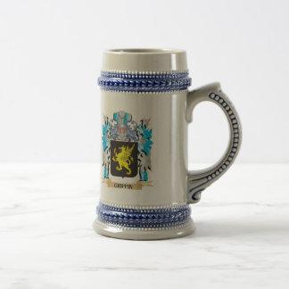Escudo de armas del grifo - escudo de la familia tazas de café