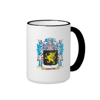 Escudo de armas del grifo - escudo de la familia taza
