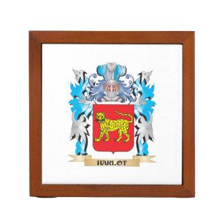 Escudo de armas del Harlot - escudo de la familia