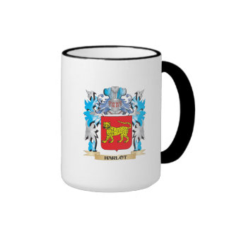 Escudo de armas del Harlot - escudo de la familia Taza A Dos Colores