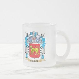 Escudo de armas del Harlot - escudo de la familia Taza Cristal Mate