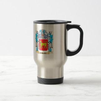 Escudo de armas del Harlot - escudo de la familia Taza De Viaje De Acero Inoxidable