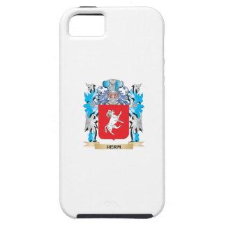 Escudo de armas del Herm - escudo de la familia iPhone 5 Case-Mate Funda