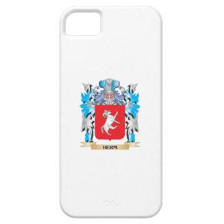Escudo de armas del Herm - escudo de la familia iPhone 5 Case-Mate Coberturas