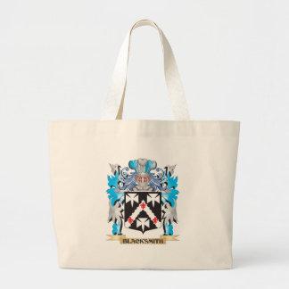 Escudo de armas del herrero bolsas lienzo