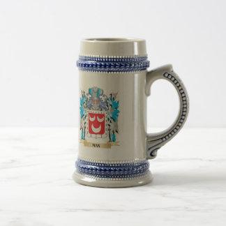 Escudo de armas del hombre - escudo de la familia jarra de cerveza