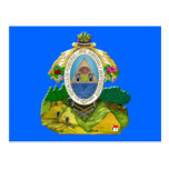 Escudo de armas del Honduran del emblema de Hondur Tarjetas Postales