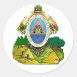 Escudo de armas del Honduran del emblema de Etiqueta Redonda