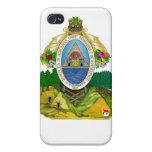 Escudo de armas del Honduran iPhone 4 Coberturas