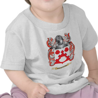 Escudo de armas del Hudson (escudo de la familia) Camisetas