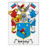 Escudo de armas del húngaro de la familia de Beldy Tarjeta