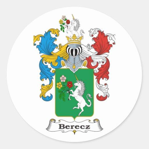 Escudo de armas del húngaro de la familia de Berec Pegatinas Redondas