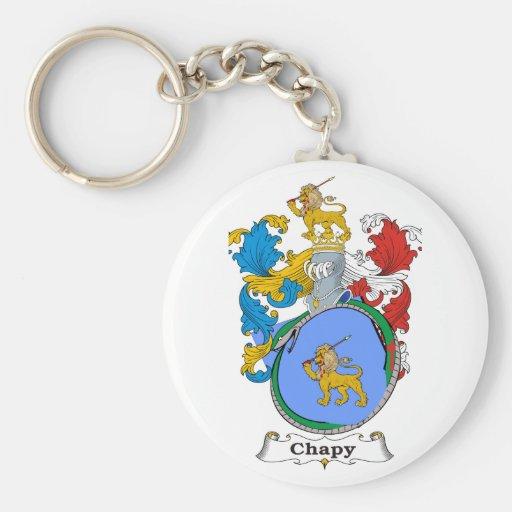 Escudo de armas del húngaro de la familia de Chapy Llavero Redondo Tipo Pin