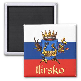 Escudo de armas del Illyria Imán Cuadrado