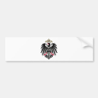 Escudo de armas del imperio alemán (1889-1918) pegatina de parachoque