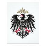 Escudo de armas del imperio alemán (1889-1918) invitación 10,8 x 13,9 cm