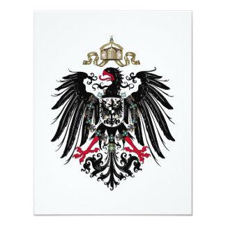 Escudo de armas del imperio alemán (1889-1918) invitaciones personalizada