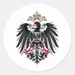 Escudo de armas del imperio alemán (1889-1918) pegatina redonda