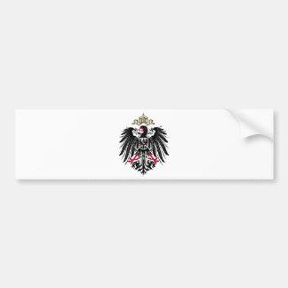 Escudo de armas del imperio alemán (1889-1918) pegatina para auto