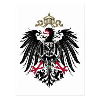 Escudo de armas del imperio alemán (1889-1918) tarjeta postal