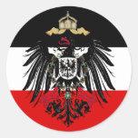 Escudo de armas del imperio alemán etiqueta redonda