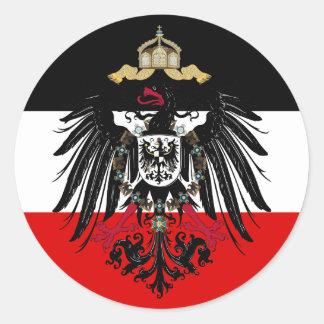 Escudo de armas del imperio alemán pegatina redonda