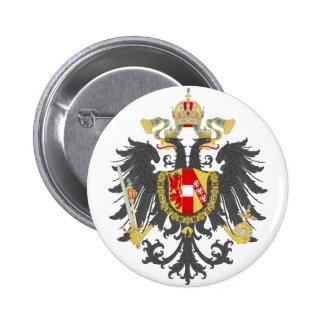 Escudo de armas del imperio austríaco pin redondo de 2 pulgadas