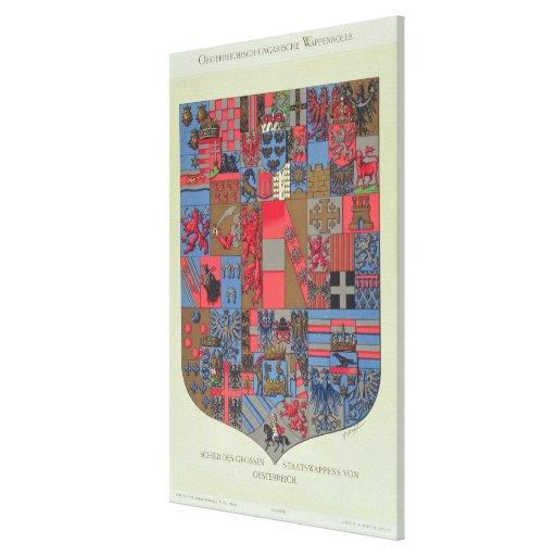 Escudo de armas del imperio austrohúngaro impresión en lona
