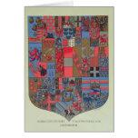 Escudo de armas del imperio austrohúngaro tarjeta de felicitación