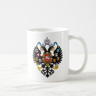 Escudo de armas del imperio ruso taza