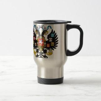 Escudo de armas del imperio ruso taza de viaje
