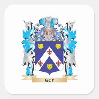 Escudo de armas del individuo - escudo de la pegatina cuadrada