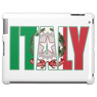 Escudo de armas del italiano de la bandera de Ital Funda Para iPad
