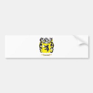 Escudo de armas del jaspe (escudo de la familia) pegatina de parachoque