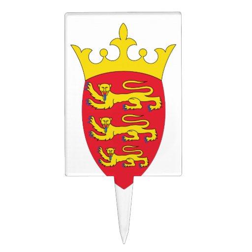 Escudo de armas del jersey decoraciones de tartas