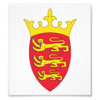 Escudo de armas del jersey impresion fotografica