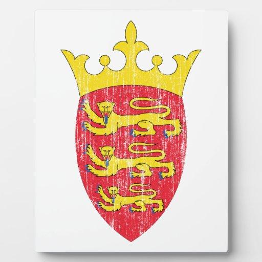 Escudo de armas del jersey placas con fotos