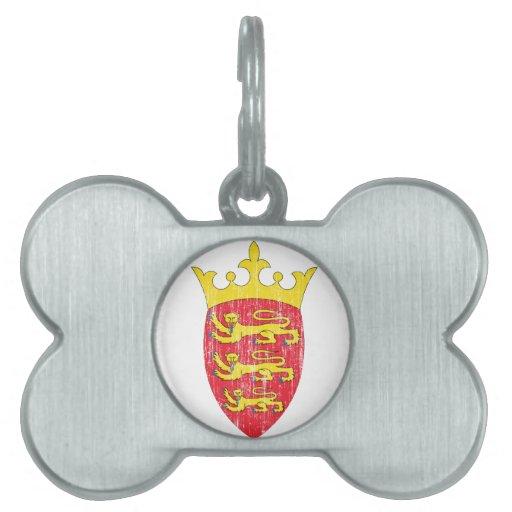 Escudo de armas del jersey placas mascota