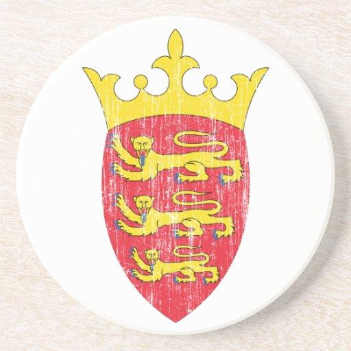Escudo de armas del jersey posavasos cerveza