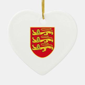Escudo de armas del jersey Reino Unido Ornamento Para Reyes Magos