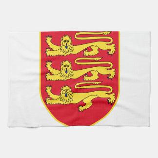 Escudo de armas del jersey (Reino Unido) Toalla De Mano