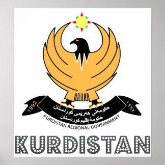 Escudo de armas del Kurdistan Posters