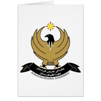 Escudo de armas del Kurdistan Tarjeta Pequeña
