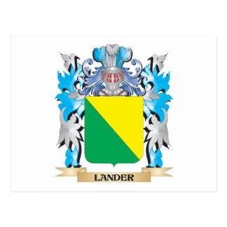 Escudo de armas del Lander - escudo de la familia Tarjeta Postal
