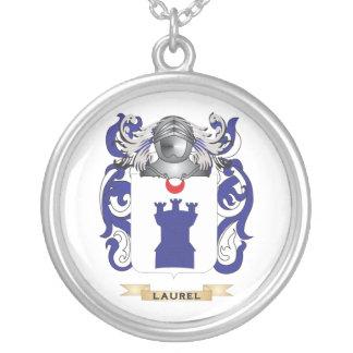 Escudo de armas del laurel (escudo de la familia) collares personalizados