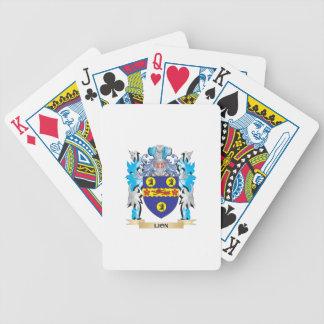 Escudo de armas del león - escudo de la familia barajas de cartas