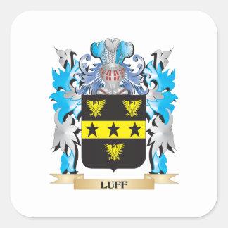 Escudo de armas del Luff - escudo de la familia Pegatina Cuadrada