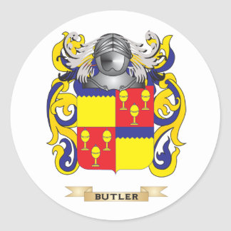 Escudo de armas del mayordomo (escudo de la pegatina redonda