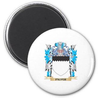 Escudo de armas del mendigo - escudo de la familia imán